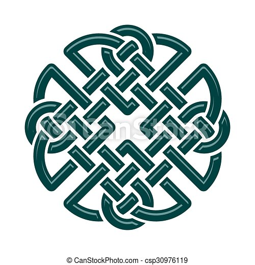 Celtic Knot Celtic Dara Knot Symbol Of Strength Isolated