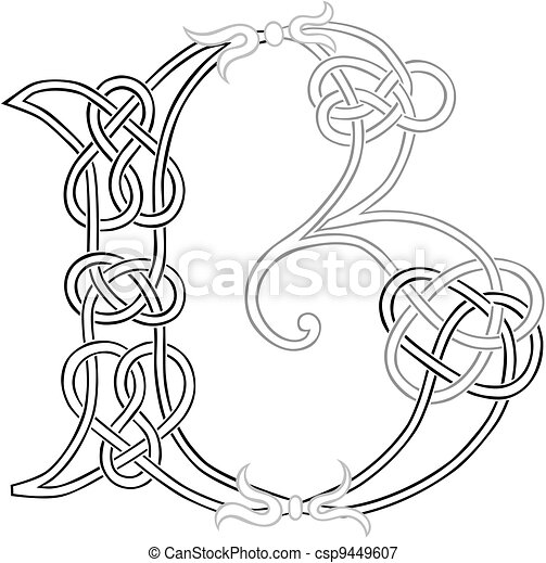 Celtic Knot-work B - csp9449607