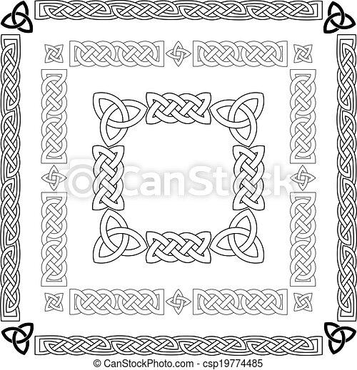 Celtic knots, patterns, frameworks vector - csp19774485