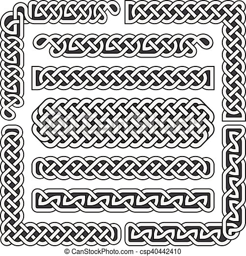 Celtic Knots Vector Medieval Seamless Borders Patterns And Magnificent Celtic Knot Patterns