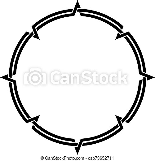 Celtic Knotwork Round Decorative Ornamental Border Frame - csp73652711