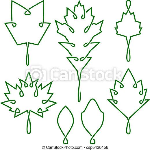 Celtic leaves - csp5438456