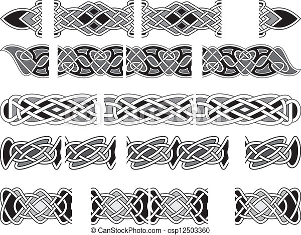 celtic medieval ornaments seamless celtic patterns for design in a
