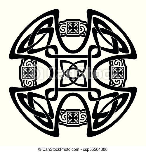 celtic national cross celtic cross with national ornament vector rh canstockphoto ca celtic clip art to print celtic clipart borders