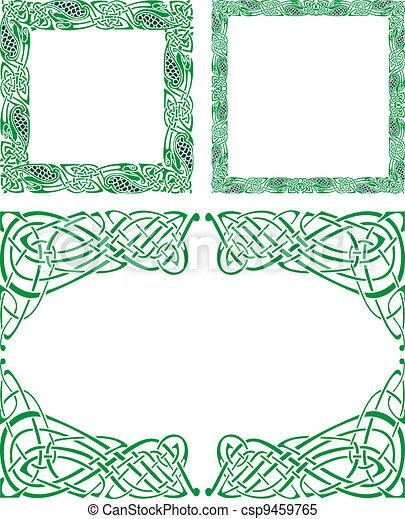 Celtic ornament borders - csp9459765