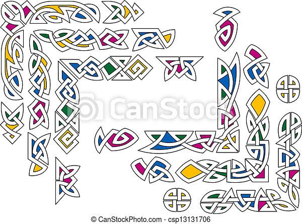 Celtic ornament elements - csp13131706