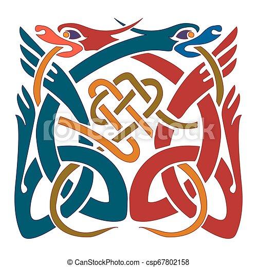 Celtic ornament - Illustration designs - csp67802158