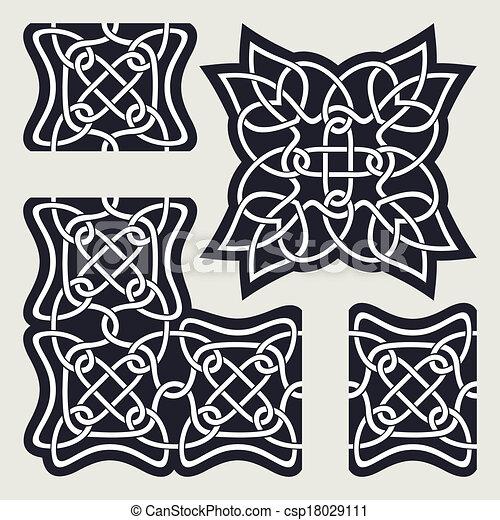 Celtic ornament - csp18029111