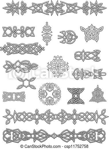 Celtic ornaments and embellishments - csp11752758
