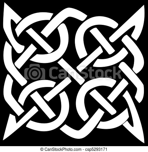 Celtic pattern and knot - csp5293171