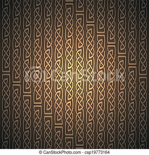 Celtic Pattern Wallpaper Background Vector