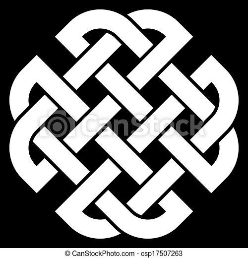 Celtic Quaternary knot - csp17507263