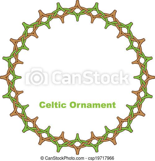 Celtic round frame. - csp19717966