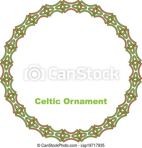 Celtic round frame. - csp19717935