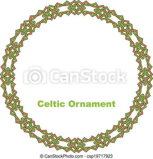 Celtic round frame. - csp19717923