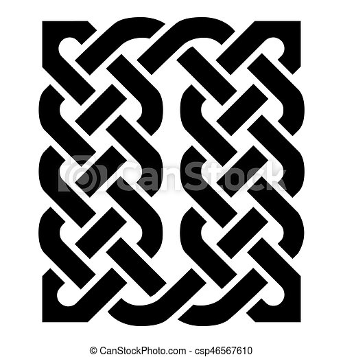 Celtic Style Rectangle Element Based On Eternity Knot Patterns In