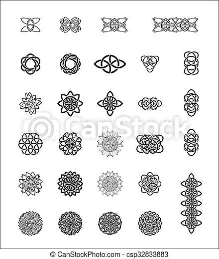 celtic stylization - csp32833883