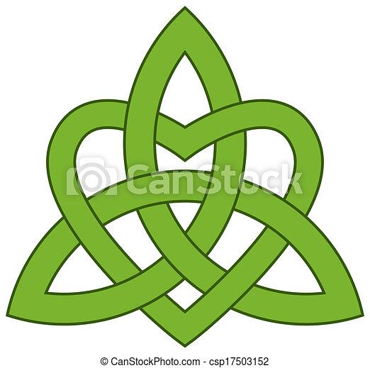 Celtic Trinity knot (Triquetra) - csp17503152