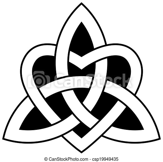 celtic trinity knot triquetra interlaced with a heart vectors rh canstockphoto com celtic clip art free downloads free celtic clipart
