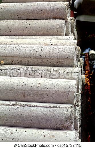 Cement block background. - csp15737415