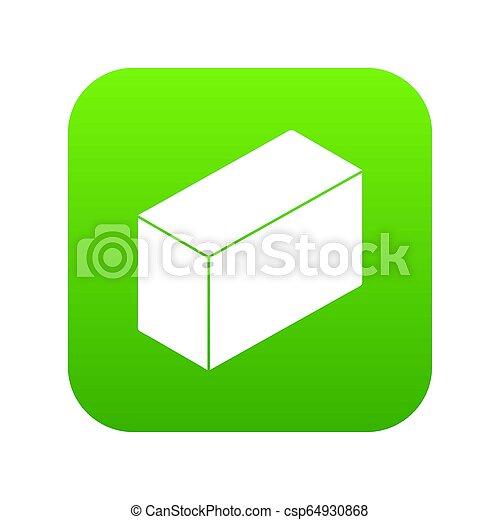 Cement block icon green - csp64930868