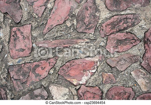 Cement block pathway - csp23694454