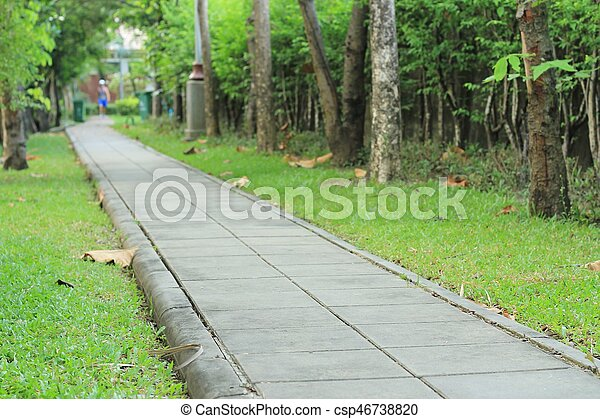 cement block walkway - csp46738820