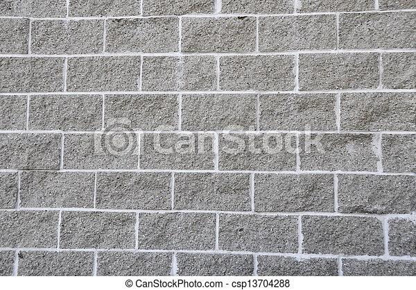Cement Block Wall - csp13704288