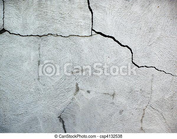 Cement cracks - csp4132538