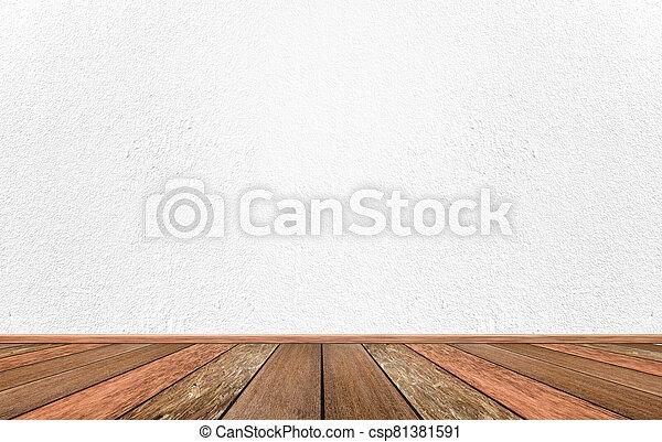 cemento, blanco, interior, habitación, pared, vacío - csp81381591