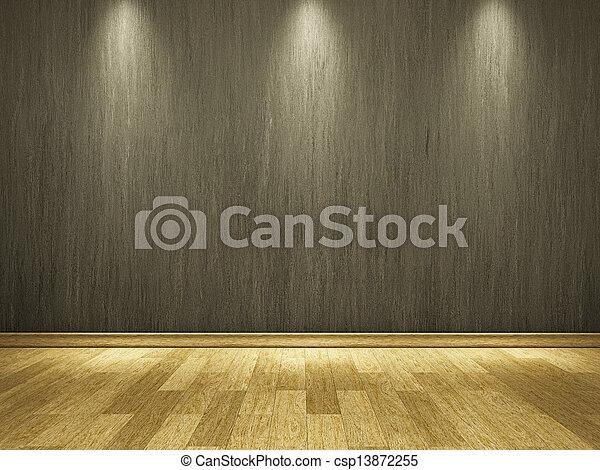 cemento, parete, pavimento, legno - csp13872255