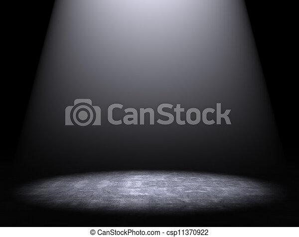 Un fondo de cemento con reflectores - csp11370922