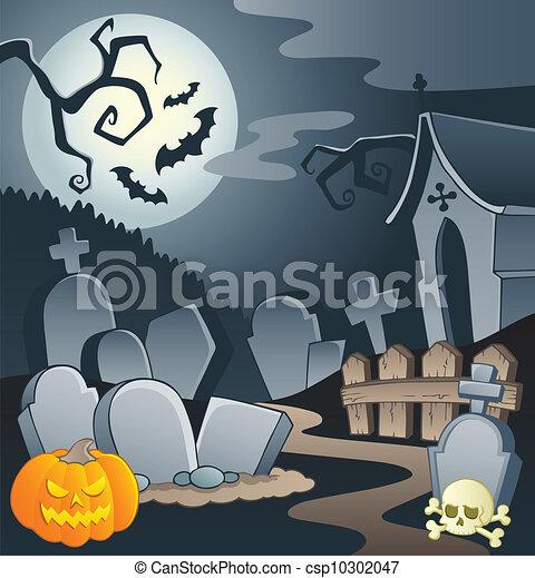 Cemetery theme image 1 - csp10302047
