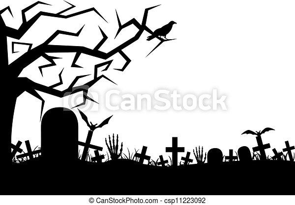branca cemitério isolado