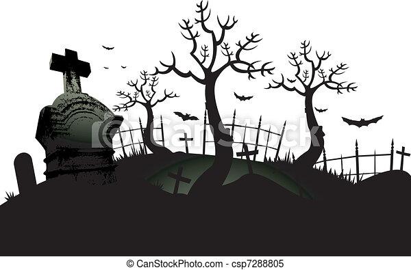 dia das bruxas cemitério fundo