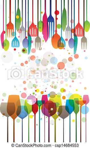 Una cena de color - csp14684553