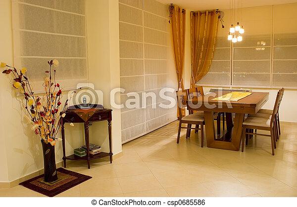 Salón de cena de lujo - csp0685586