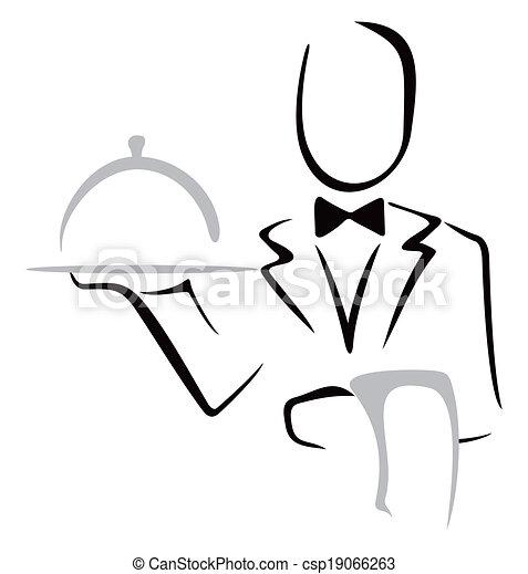 Sirviendo la cena - csp19066263