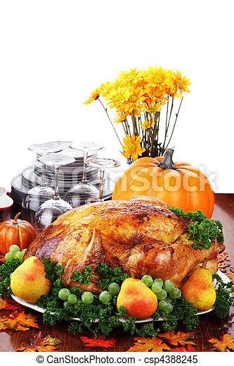 cena, ringraziamento, festivo - csp4388245