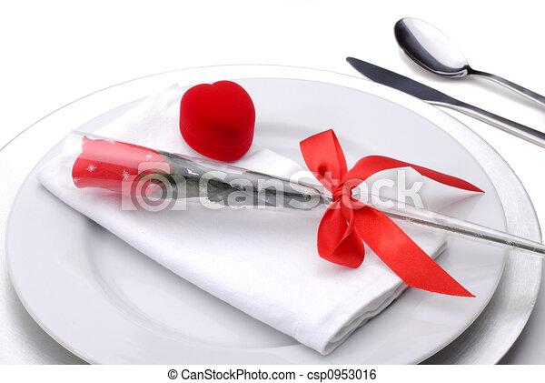 cena, valentines - csp0953016