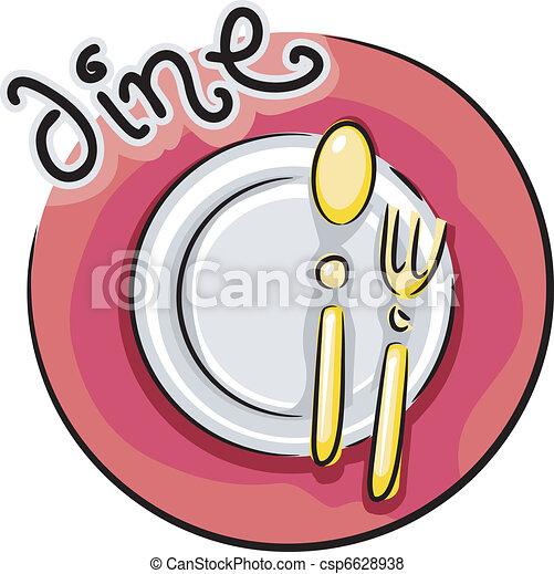 cenando, icona - csp6628938