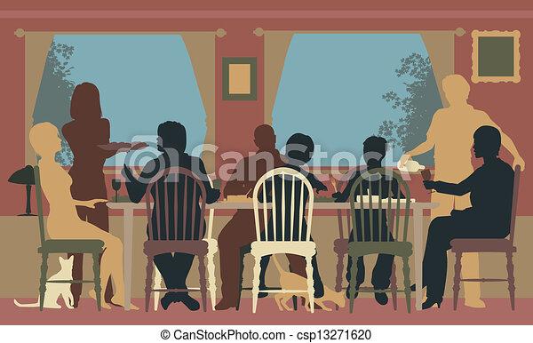 Cena familiar - csp13271620