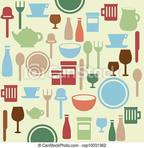 Patrón de cena - csp10031362