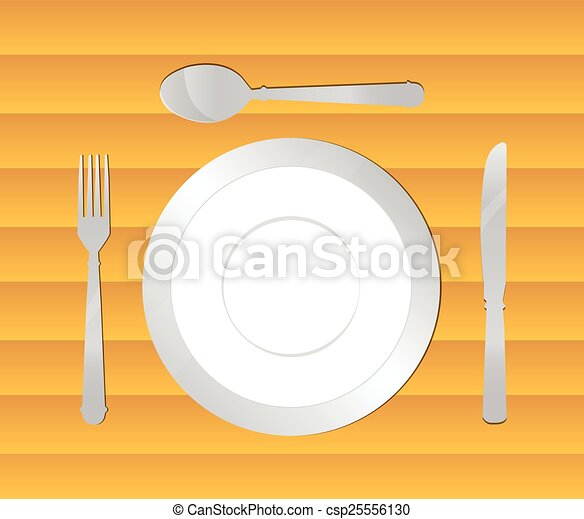 Fondo de mesa de comedor - csp25556130