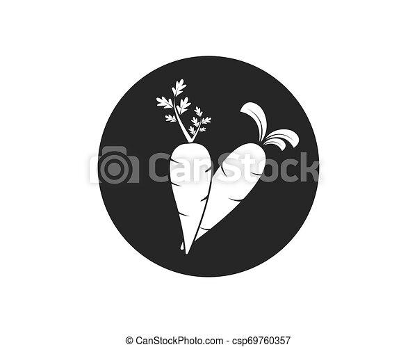 cenoura, ilustração, vetorial, desenho, logotipo, ícone - csp69760357