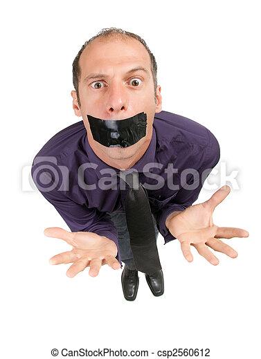 censored businessman - csp2560612