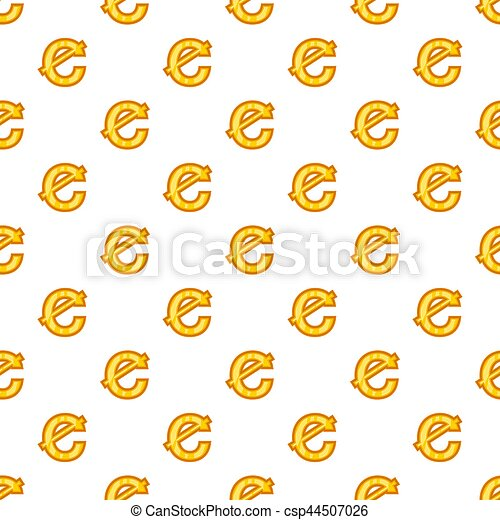 Cent Currency Symbol Pattern Cartoon Style Cent Currency Symbol