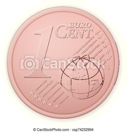 centavo, euro, uno - csp74232994
