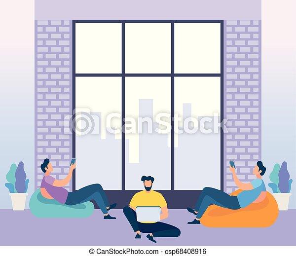 center., coworking, conceito, negócio, meeting. - csp68408916