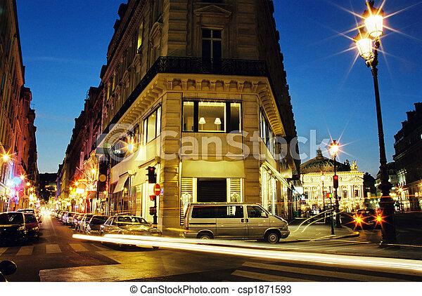 Center of Paris in night - csp1871593